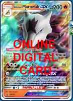 1X Alolan Marowak GX SM187 Pokemon TCG Online Digital Card
