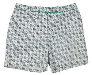 Lady Hagen - NWT Women's White/Black Osaka Print Golf Shorts - Size: 12