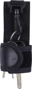 Black Duty Belt Silent Key Holder Pouch with Clip