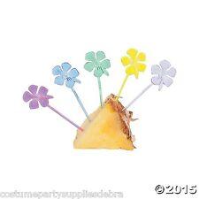 12 x Hibiscus Picks...Food...Cupcake...Hawaiian...Tropical Luau...Beach Party