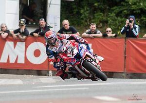 Gary Johnson  2018 Isle of Man TT Superbike Race    A4 Photo