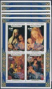 [P5485] Aitutaki 1986 Christmas good sheet very fine MNH OVPT