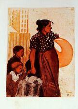 1901 Studio Aufdruck ~ La Blanchisseuse Farbig Radierung von Steinlen