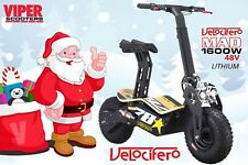 Velocifero Mad New 2019, 1600W 48V Lithium  Electric Scooter , Christmas Sale