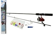 Complete Starter Beginners Fishing Kit Float Rod Reel tackle Set Fishing