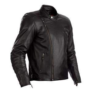 RST Matlock UK Ce Schwarz Motorrad Klassisch/Retro/Vintage Leder Jacke