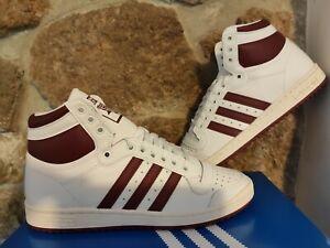 2020 Adidas Originals Top Ten Hi ® (Uomini Taglia 9 EU 43 1/3) bianco/bordeoux