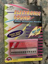 Vintage 1980s Agglo ELECTRON ECHO MINI PIANO Keyboard Plastic Toy A