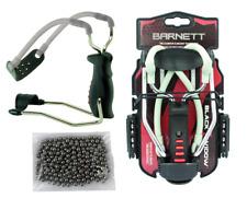 "Barnett BLACK WIDOW Folding Slingshot Catapult + 100 X 3/8"" 9.5mm Steel BB'S"
