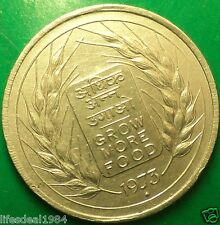 RARE 1973 50 paise FAO GROW MORE FOOD BOMBAY MUMBAI MINT Commemorative coin