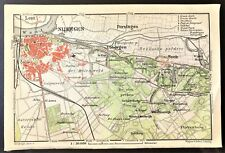 1910 ANTIQUE COLOR MAP - NIJMEGEN, NETHERLANDS - 100% ORIGINAL