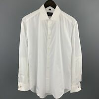BARNEY'S NEW YORK Size S White Cotton French Cuff Long Sleeve Shirt