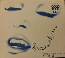 MADONNA EROTICA GOLD CD TOUR LIMITED NUMBERED AUSTRALIA 1993 PROMO HYPE & POSTER