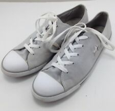 Converse One Star Ladies Sneakers Grey Size 10 Low Top Lace up Athletic Shoes