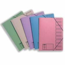 Concord Foolscap Assorted Elasticated 9 Part Files Pack of 10 [JT19099]