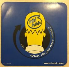 Vintage Intel Computers Homer Simpson Mousepad - What Do you Have Inside? 1998