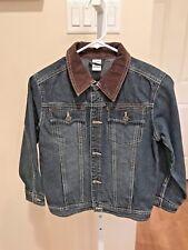 Gymboree Blue Denim Jacket Boy''s Size M Corduroy Collar
