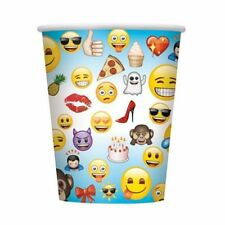 Unique 8 Count Paper 8 ounce cups  emoji cups  MADE IN USA
