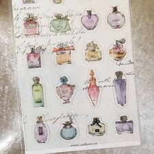 Perfume Sparking Pvc stickers French Fragrance Girly Scrapbook Cardmaking diy