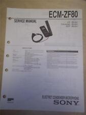 Sony Service Manual~ECM-ZF80 Electret Condenser Microphone~Original~Repair