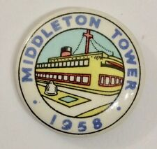 1958 Middleton Tower Holiday Camp tin badge