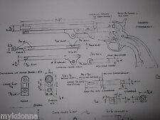COLT 1851 & Walker 2  print lot Revolver gun Gunsmith Plan Drawing Black Powder