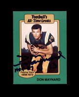 Don Maynard Hand Signed 1987 Footballs Greats New York Giants Autograph