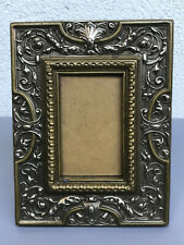 Antique Art Nouveau Austrian Brass Portrait Picture Frame, Signed