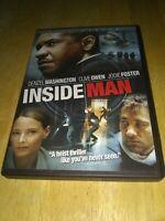 Inside Man Full Screen Edition 2006 Denzel Washington Clive Owen Jodie Foster
