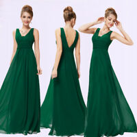 US Green Bridesmaid Dresses Long Chiffon Formal Evening Dress 08110 Ever-Pretty