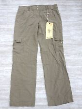 NEW Da-Nang Women's Pants Pockets Buckles GINGER BRW RSS5240 SMALL s