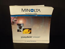 Minolta 2002 Dimage Viewer Manual Guide Photography Camera digital program book