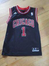Chicago Bulls Derrick Rose Adidas Basketball Jersey Youth Small Alternate Black