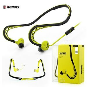 Phone Mobile Sport Fitness Running Headset Neckband HD Earphones Headphones Mic