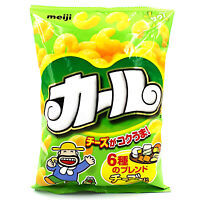 KARL CHEESE x 3 BAGS corn puffs with six awesome blends of cheese Meiji Japan