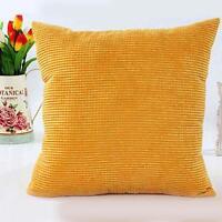 Corn kernels Corduroy Sofa Decor Pillow Case Cushion Cover #G Square 50cm UP