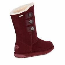 EMU Australia Womens Lined Claret Captain BOOTS Uk5 Eu38 Lg02 73 Www