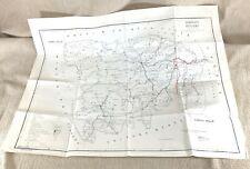 1978 Vintage Map of Sylhet Bangladesh Habiganj District Nabiganj Indian Border
