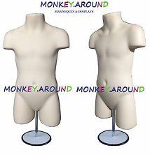 Child Mannequin,Clothing Display Body Dress Torso Boy,Girl Form & Stand - Flesh