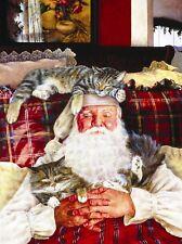 """Santa's Cat Nap 1000 piece SunsOut Jigsaw Puzzle Art by Susan Brabeau 20"""" x 27"""""""