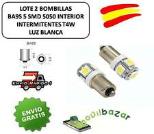 2 BOMBILLAS BOMBILLA LED COCHE BA9S 5 SMD 5050 INTERIOR INTERMITENTES T4W