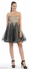 NEW HOMECOMING SHORT SEMI FORMAL DANCE DRESS STRAPLESS SWEET 16 BIRTHDAY PARTY
