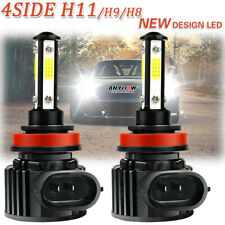 Super Bright H11 LED Headlight Conversion Kit Low Beam Bulbs 6000K Xenon White