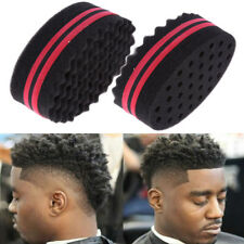 Double Sided Barber Hair Brush Sponge Locking Dreads Twists Coil Afro Curl Wave