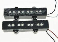 * NEW Ceramic for Fender Jazz Bass PICKUP SET Strat Pickups Black Covers