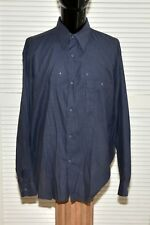 Equilibrio 100% Cotton Casual Shirt talia Black/Gray stripes 17 34-35 Italy