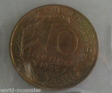 10 centimes marianne 1985 : TTB : pièce de monnaie française