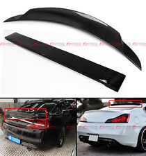 FITS INFINITI G37 2DR COUPE CARBON FIBER DUCKBILL TRUNK WING + REAR ROOF SPOILER