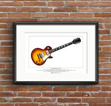 Jimmy Page's 1959 Gibson Les Paul #2 Limited Edition Fine Art Print A3 size
