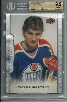 14-15 UD Masterpieces Wayne Gretzky Oversize #99 BGS 9.5 Edmonton Oilers RARE SP